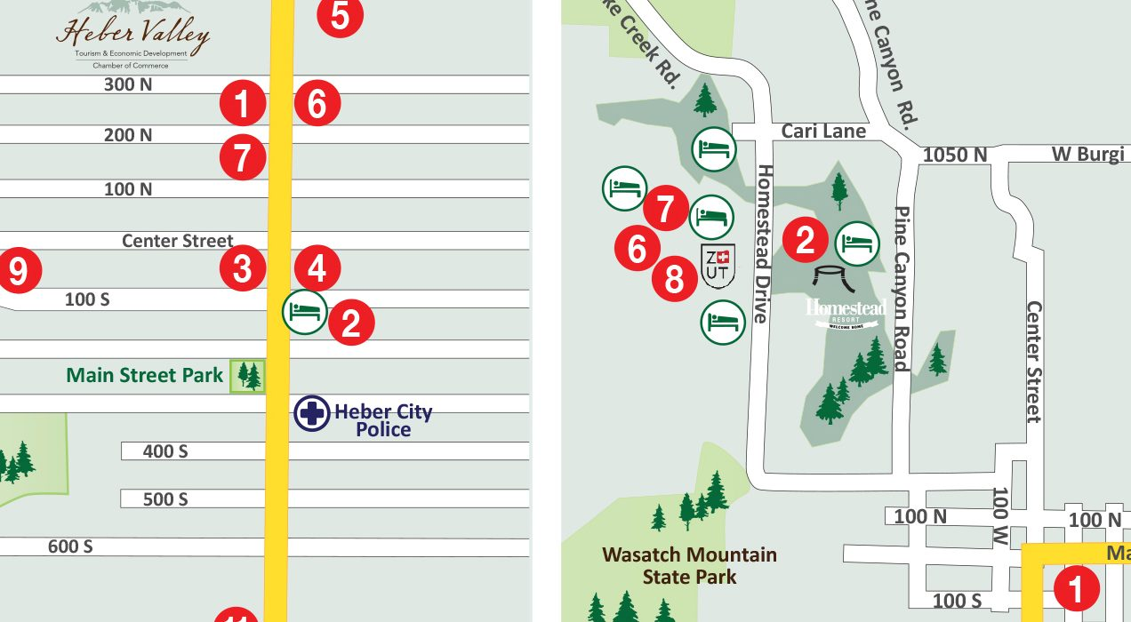 Map Of Midway Utah Heber Valley Guide