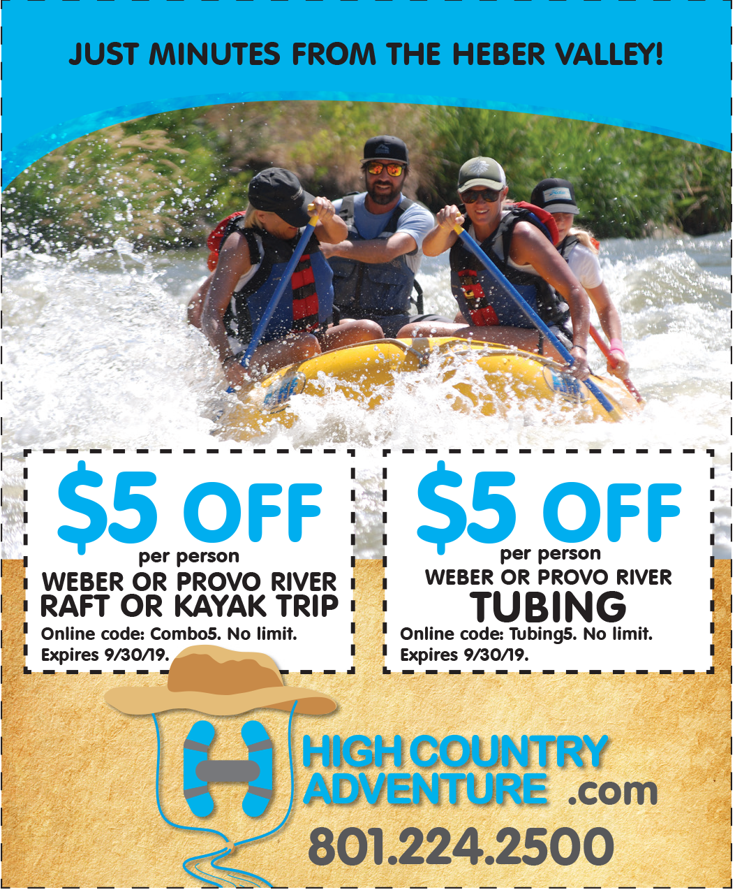 $5 OFF River Rafting or Tubing – High Country Adventure